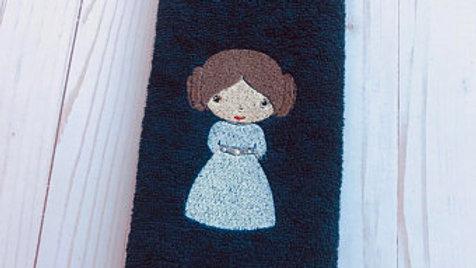 Princess Leia embroidered towel, blanket , tote bag, makeup bag