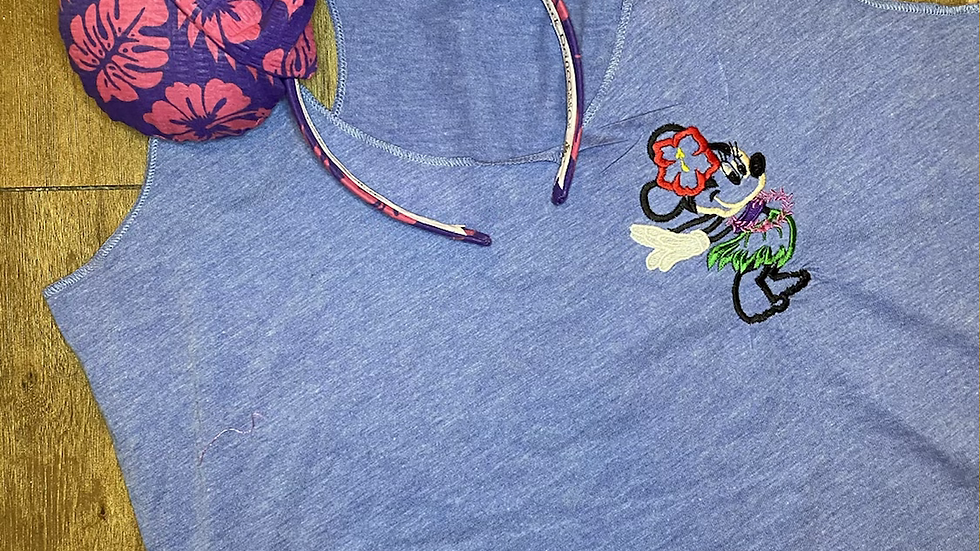 Hula Minnie Mouse embroidered t-shirt or tank