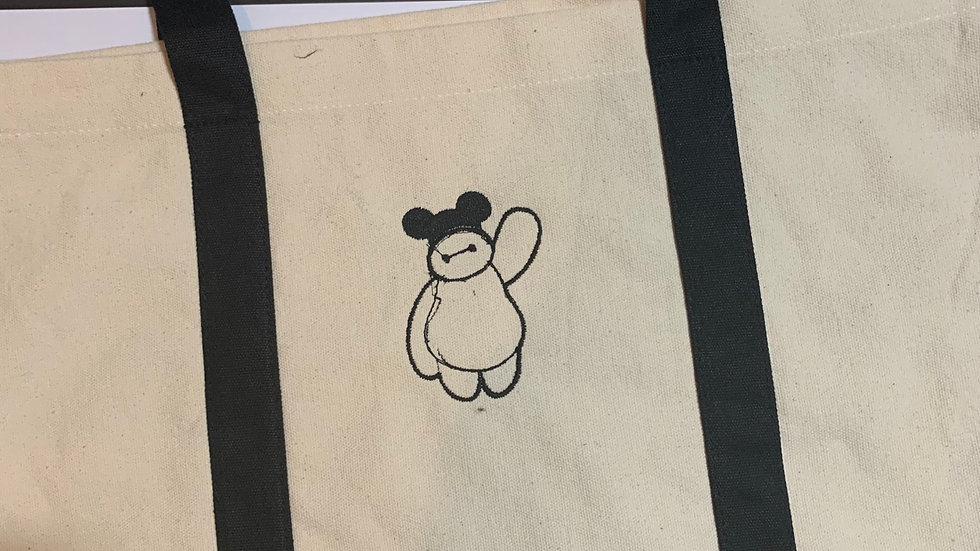 Baymax with Ears pocket tote
