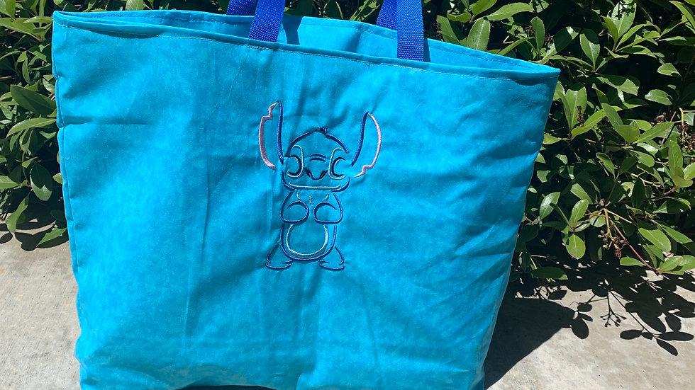 Stitch outline embroidered tote bag, makeup bag, blanket or towel - Name embroid