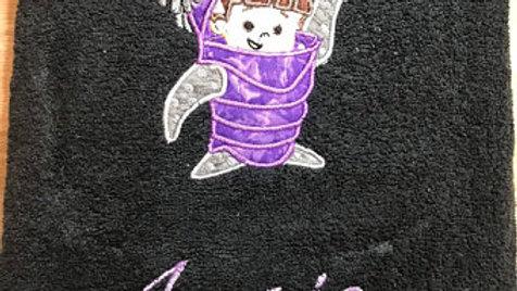 Boo embroidered bath towel / hand towel / makeup bag / tote bag / blanket