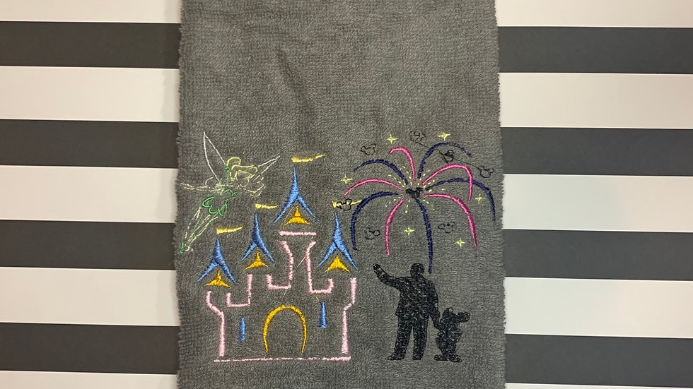 Fireworks on Main Street (DLR) embroidered towels, blanket, make