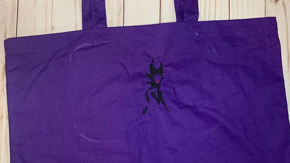 Maleficent Large Canvas tote