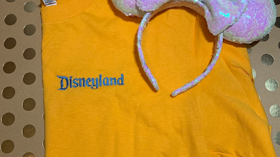 Disneyland Logo embroidered T-Shirt or tank top