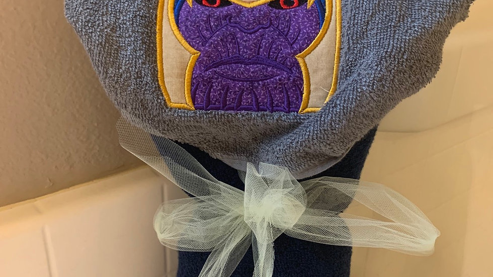 Thanos embroidered hooded towel