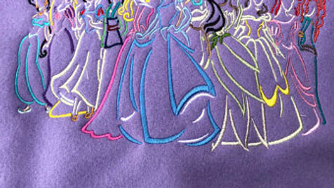 Princess parade embroidered towel, blanket, or tote bag - name embroidery avail.