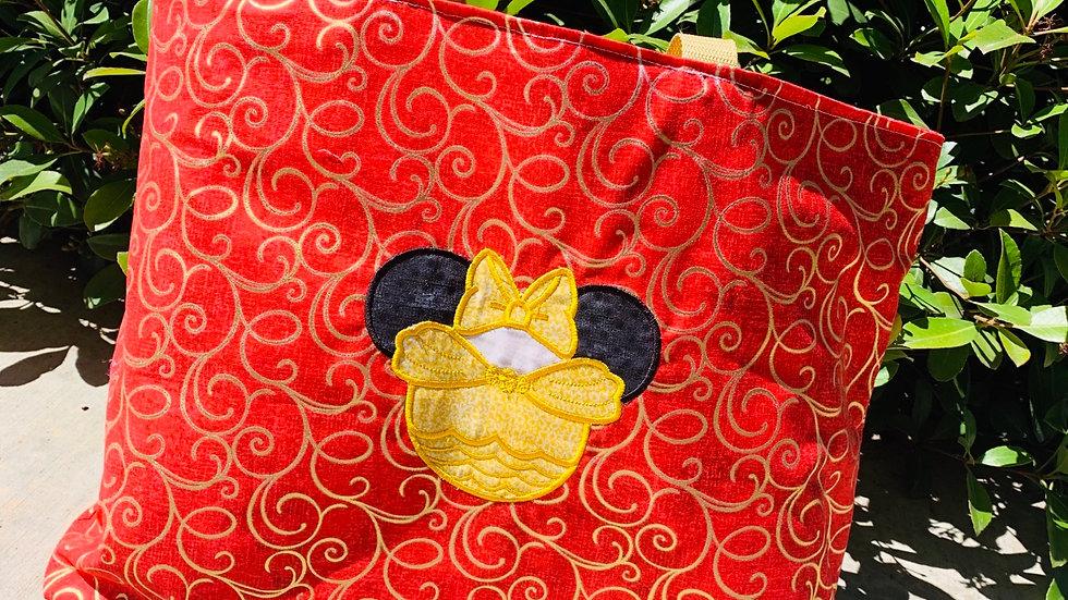 Belle Mouse embroidered tote bag, makeup bag, towel or blanket