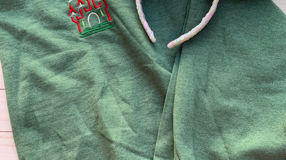Happy Holidays Castle embroidered hoodie, pullover or 1/4 zip