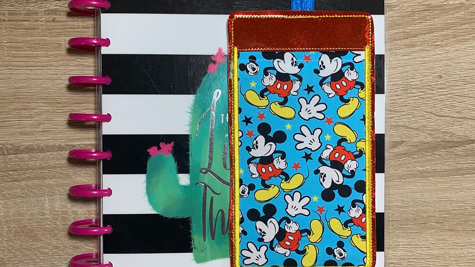 Classic Mickey Mouse embroidered pocket planner band