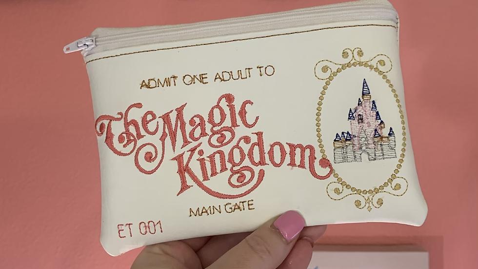 Magic Kingdom Embroidered Zipper Pouch