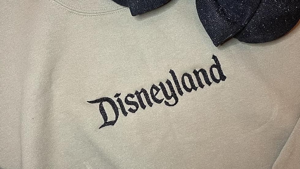 Disneyland Embroidered Hoodie, Pullover or 1/4 zip