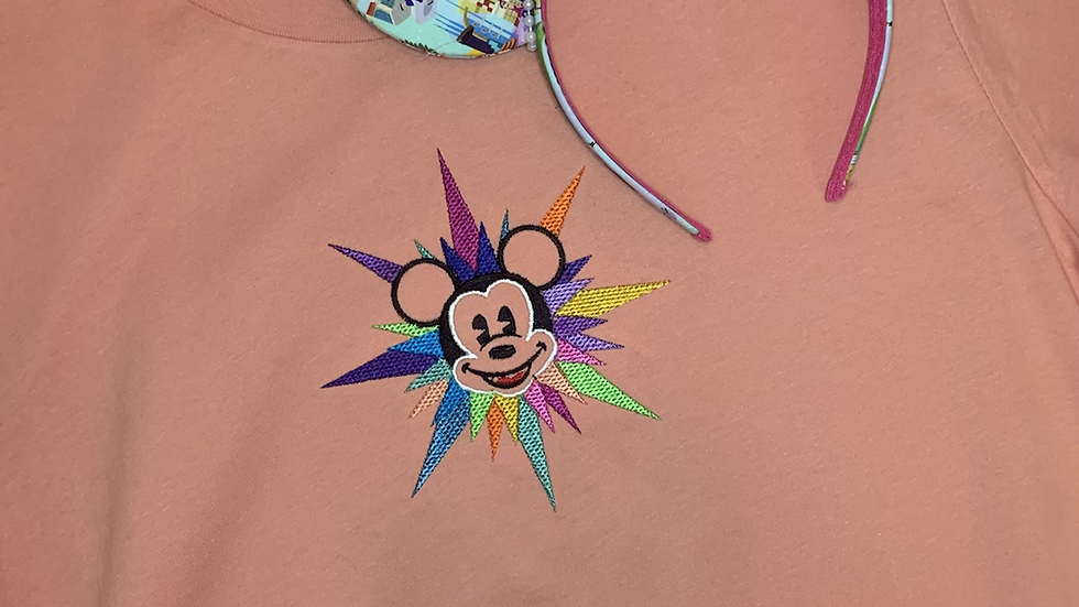 California Adventure Mickey Embroidered Tee or Tank