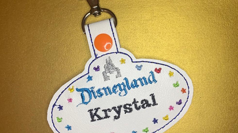 Disneyland Cast Member keychain