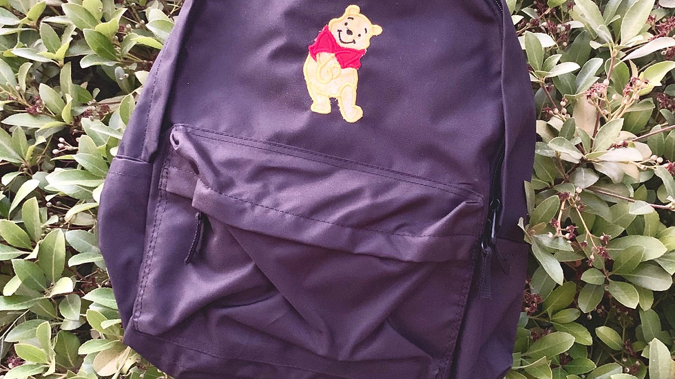Winnie the pooh embroidered backpack