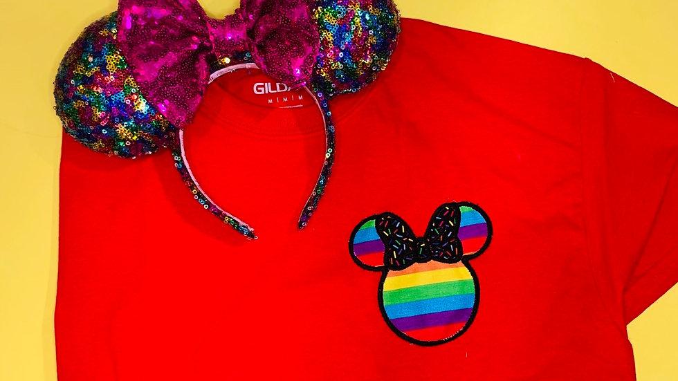 Minnie or Mickey Rainbow Shirt