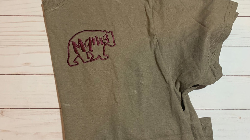 Mama Bear embroidered T-Shirt or tank top
