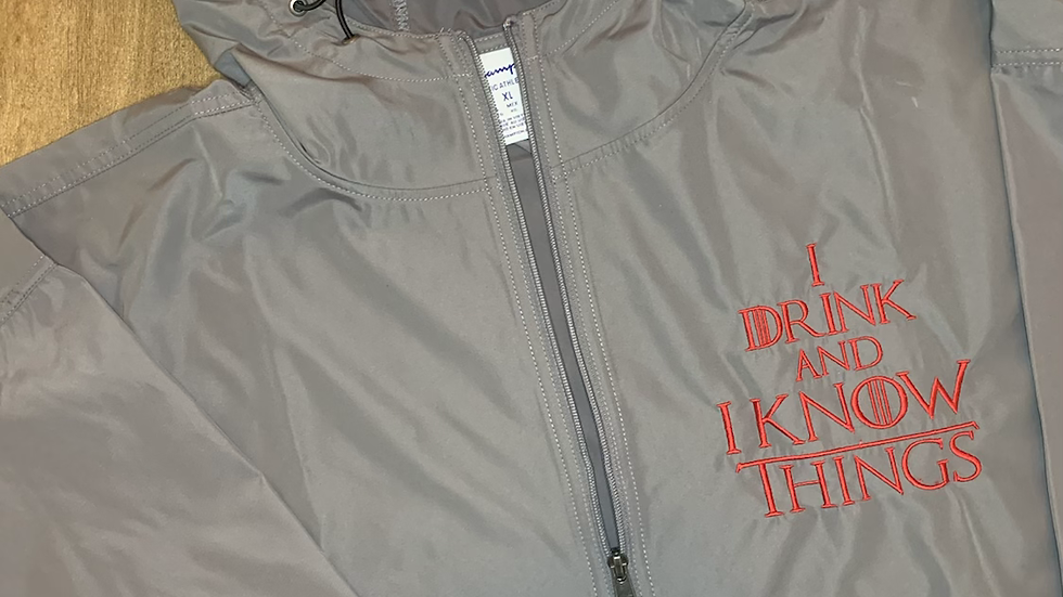 I drink and I Know Things Rain Jacket