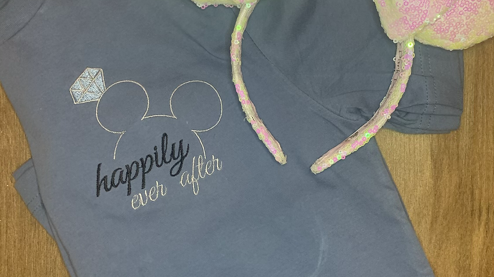 Happily Ever After embroidered t-shirt or tank