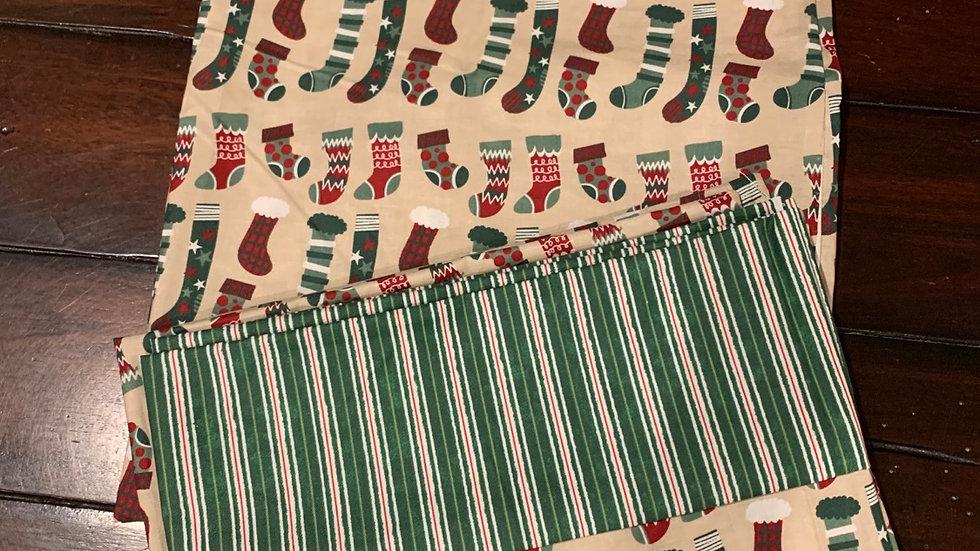 Holiday stocking standard pillowcase set - Free name embroidery