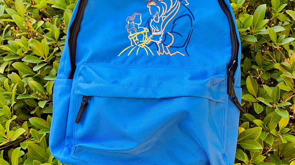 Beauty and the Beast embroidered backpack