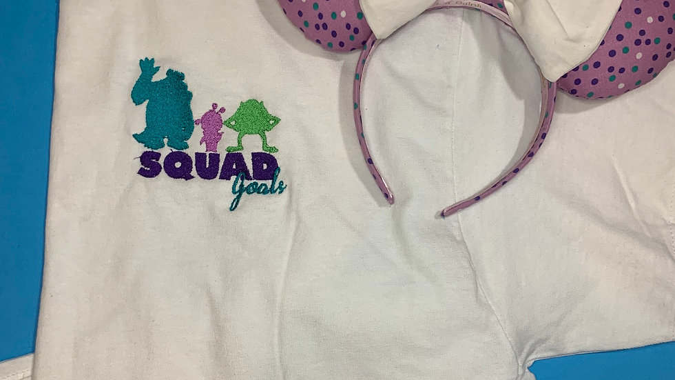 Monsters Inc Squad Goals embroidered T-Shirt or tank top