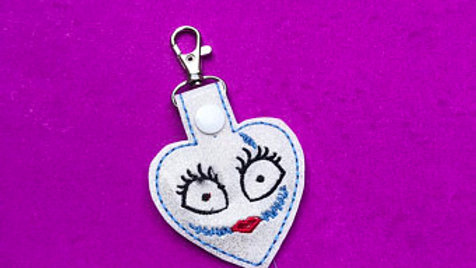 Sally embroidered keychain