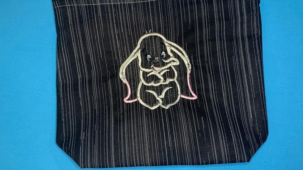 Baby Dumbo towels, makeup bag, tote bag, bl