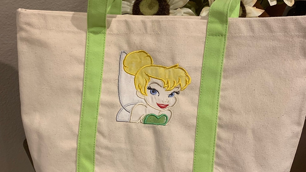 Tinkerbell pocket tote
