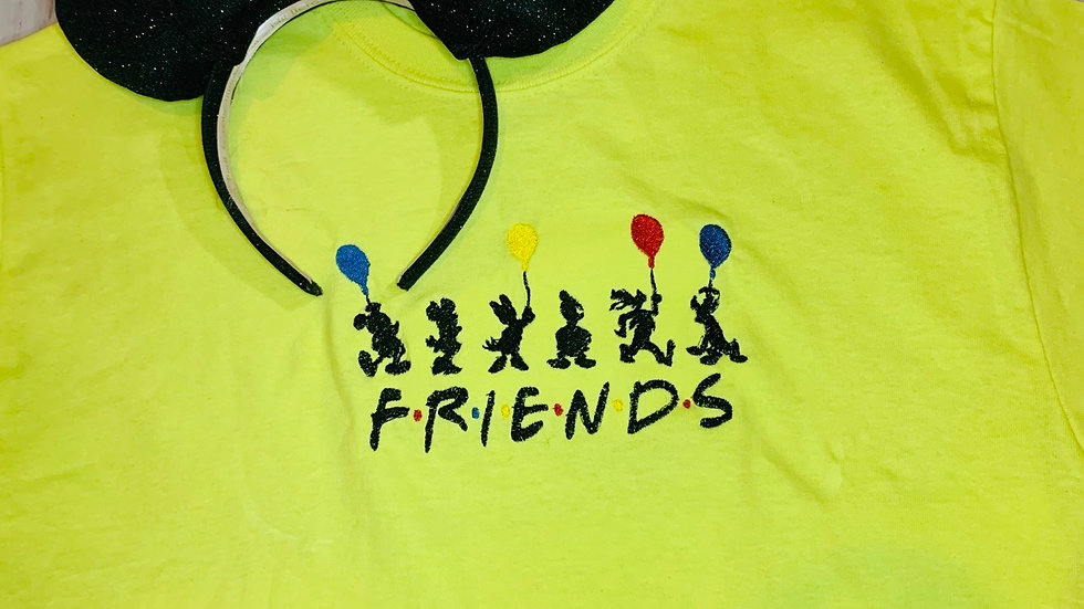 Fab 5 Friends embroidered t-shirt or tank top