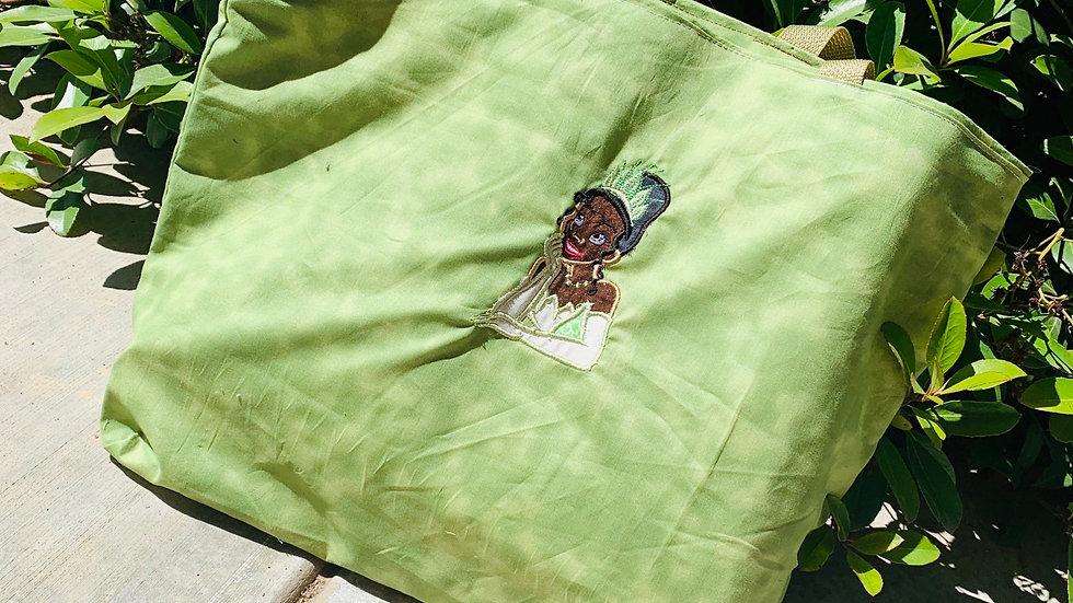 Princess Tiana embroidered tote bag, makeup bag, towel or blanket