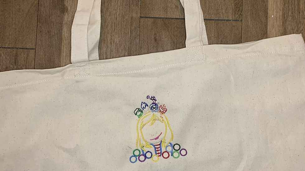 Inside Out Large Canvas tote