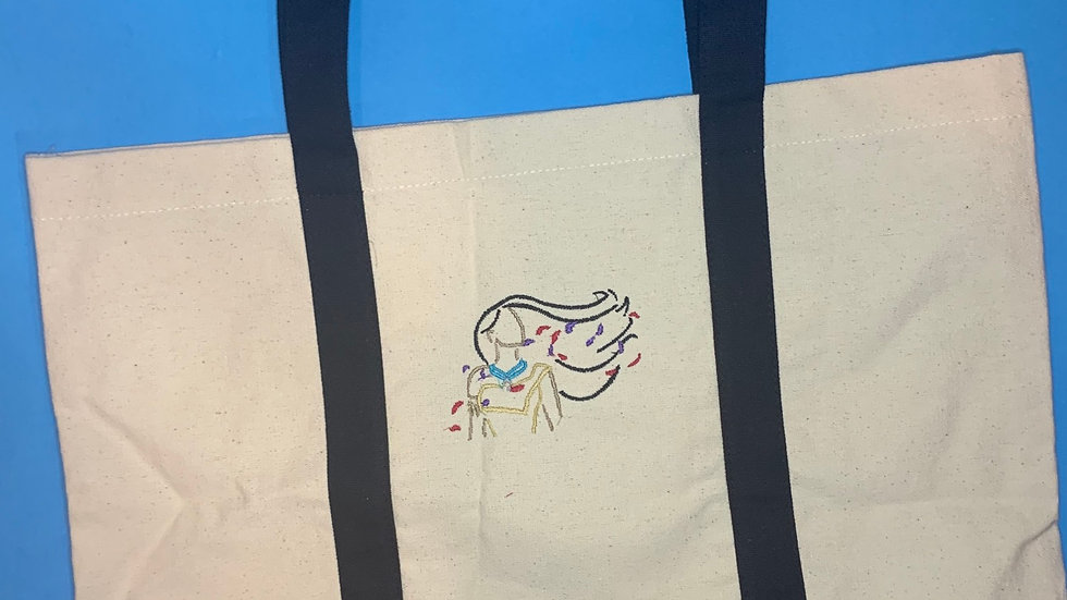 Paint with all the color of the Wind pocket tote