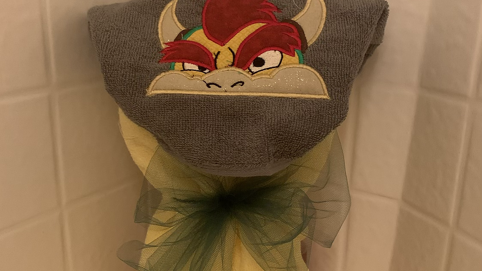 Bowser embroidered hooded towel