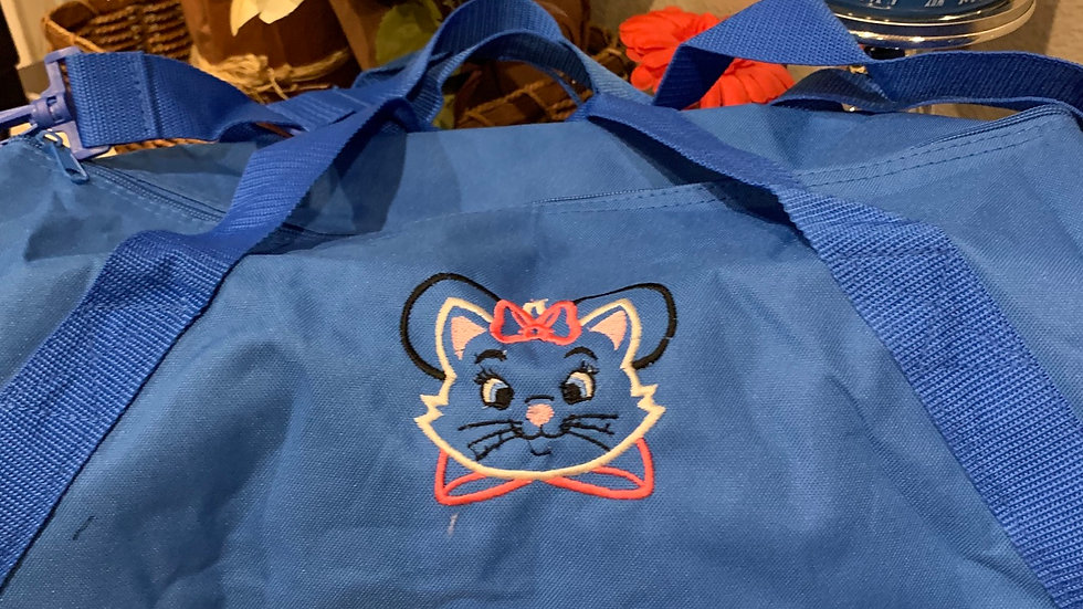 Marie Mouse embroidered duffel bag