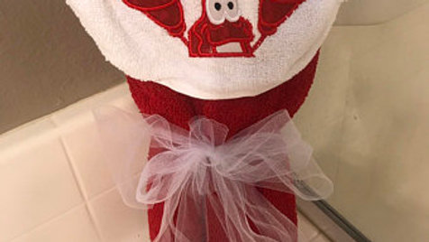 Sebastian lobster hooded towel -Name embroidery available