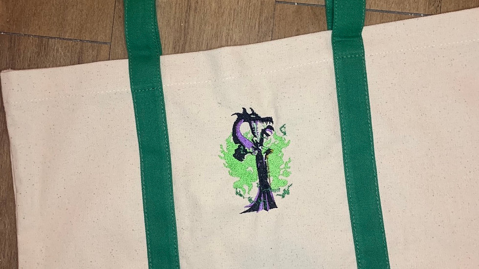 Maleficent with Dragon pocket tote