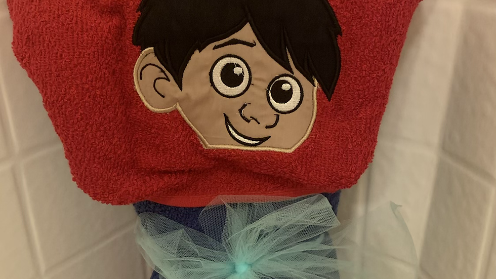 CoCo Miguel embroidered hooded towel