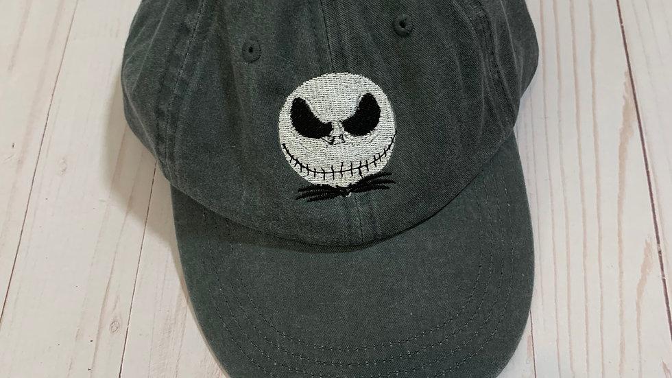 Jack skellington head embroidered hat