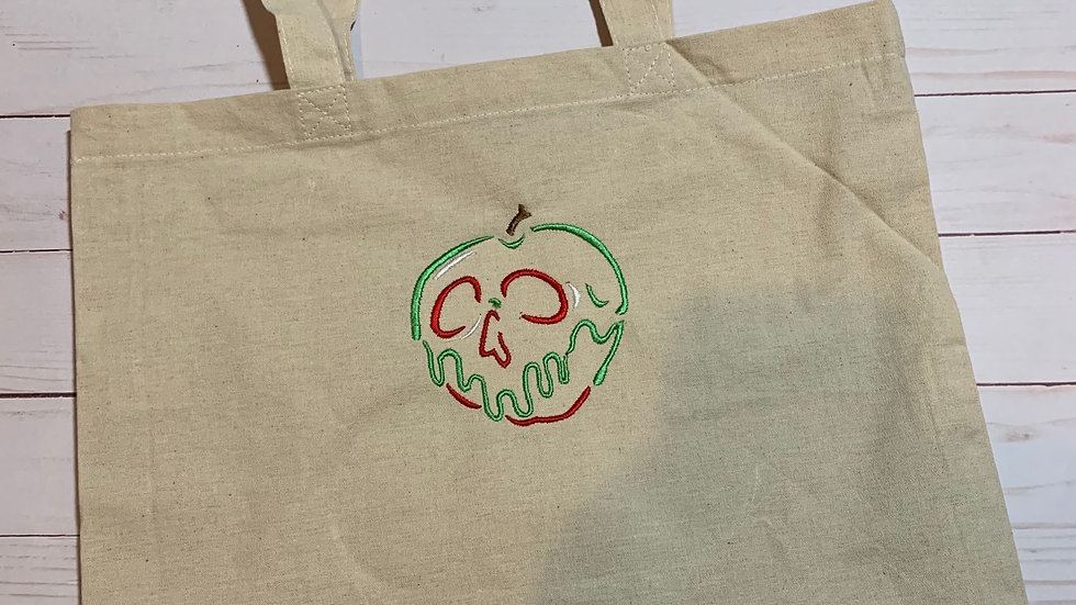 Poison Apple embroidered market tote
