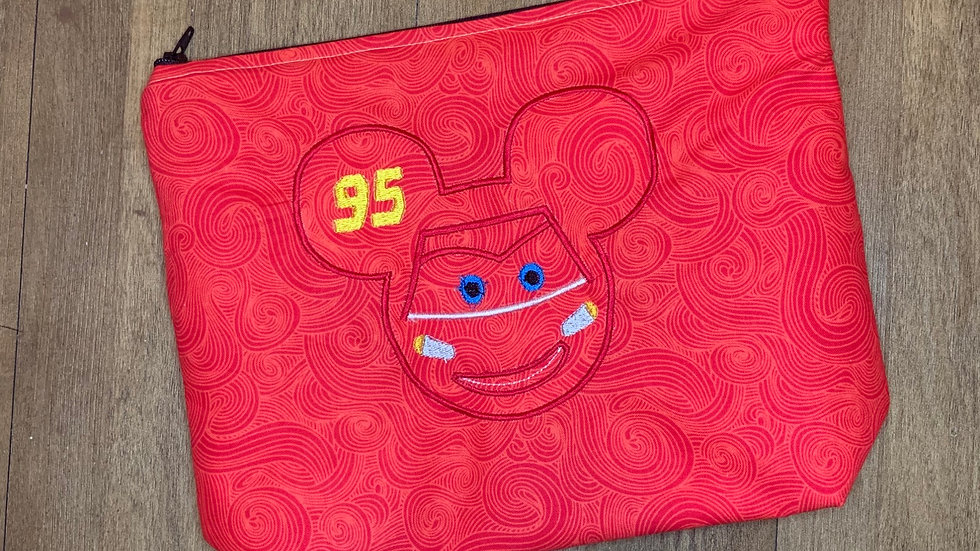 Lightening McQueen Mouse towels, makeup bag, tote