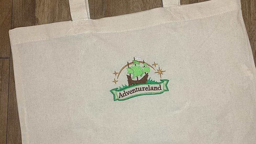 Adventureland embroidered market tote