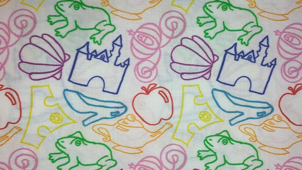 Princess Icons boxy bag or makeup bag