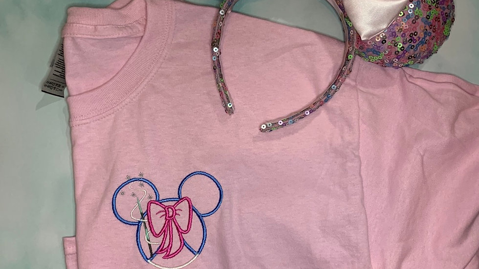 Fairy Godmother embroidered T-Shirt or tank top