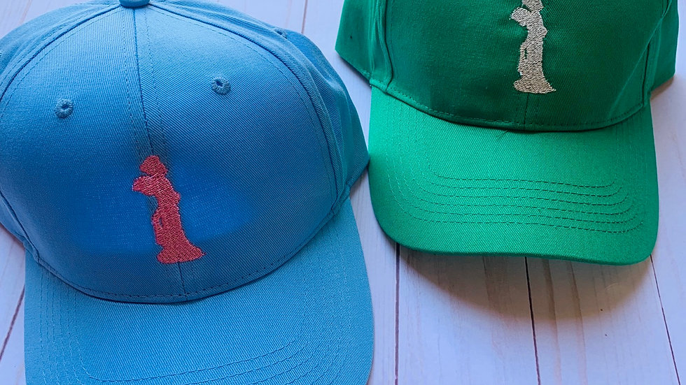 Mulan silhouette embroidered hat