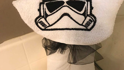 Storm trooper hooded towel - name embroidery available