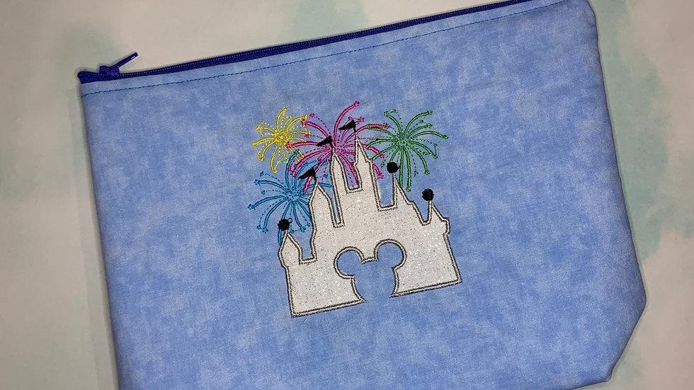 Disney Castle with fireworks embroidered towels, blanket, make