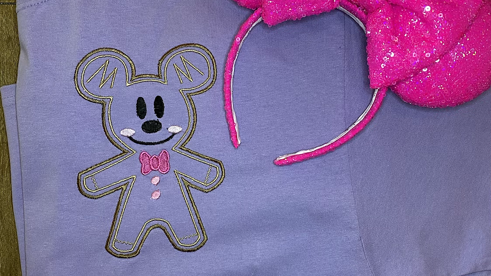 Mickey Gingerbread embroidered t-shirt or tank