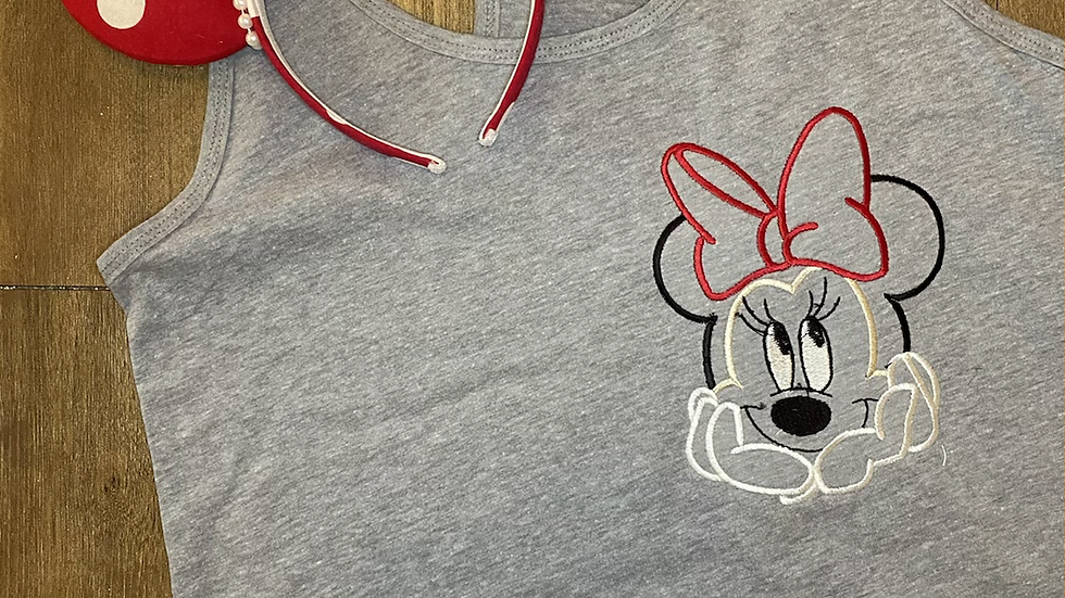 Minnie Mouse embroidered t-shirt or tank