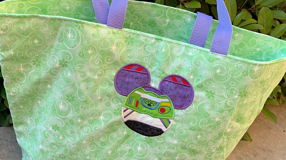 Buzz Lightyear mouse embroidered tote bag,makeup bag, towel or blanket
