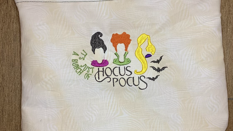 Just a bunch of hocus pocus towels, makeup bag, tote